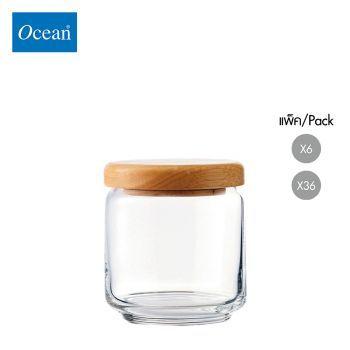 ขวดโหล Storage jar POP JAR,500 ml (Wooden Lid) จากโอเชียนกลาส Ocean glass ขวดโหลดีไซน์สวย